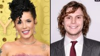 Halsey and Evan Peters Make Their Relationship Instagram Official at Halloween Party