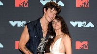 Shawn Mendes and Camila Cabello Holding MTV Award