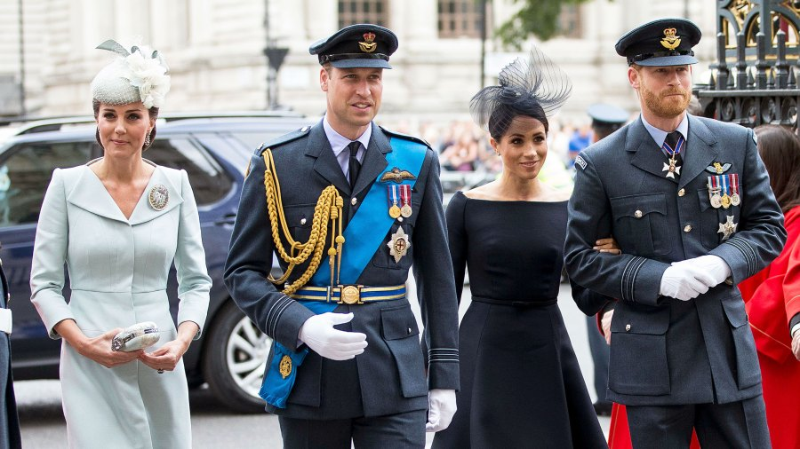 The Royals Prince William, Duchess Kate, Duchess Meghan, Prince Harry