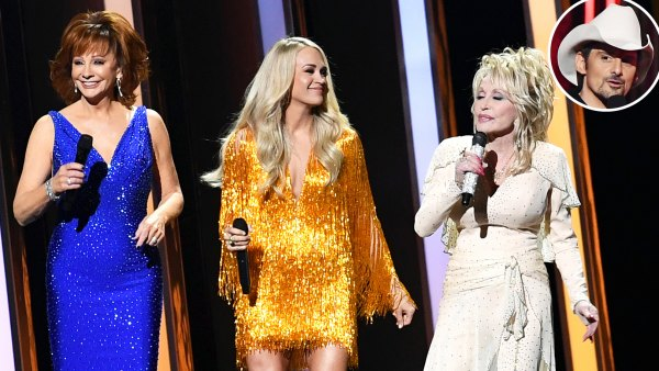 Carrie Underwood, Reba McEntire, Dolly Parton Address Brad Paisley's Absence in Girl Power-Themed Monologue at CMA Awards s 2019