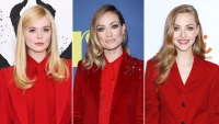 Celebs Wearing Red Suits