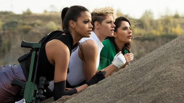 Ella Balinska, Kristen Stewart and Naomi Scott star in Charlie's Angels