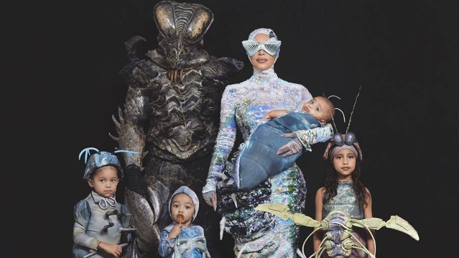 Kim Kardashian Shares Belated Family Halloween Costumes: 'West Worms,' 'Sing'