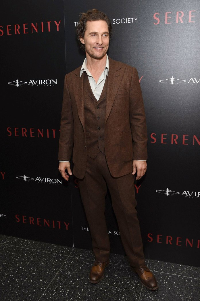 Matthew McConaughey Brown Suit