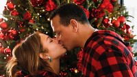 Jennifer Lopez Alex Rodriguez Twinning Christmas PJs