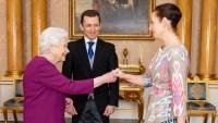 Queen Elizabeth Plum Dress December 4, 2019