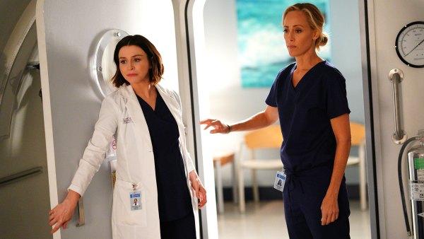 Caterina Scorsone and Kim Raver Grey's Anatomy Recap