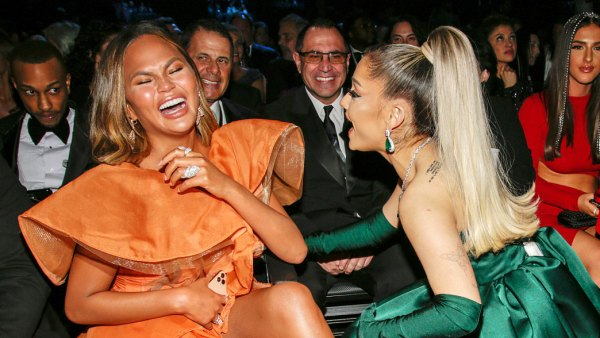 Chrissy Teigen and Ariana Grande at the Grammys 2020 What You Didnt See on TV