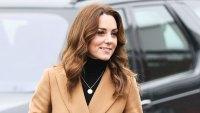 Duchess Kate Middleton Camel Coat January 22, 2020