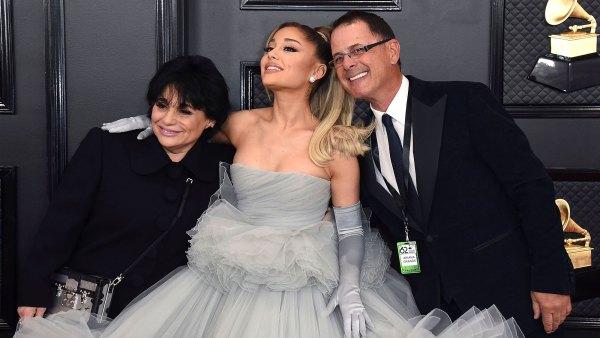 Edward Butera, Ariana Grande, Joan Grande Family Grammys 2020
