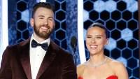 Chris Evans Helped Pal Scarlett Johansson With Her Dress in Sweet Unseen Golden Globes Moment