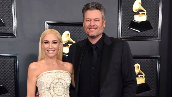 Gwen Stefani and Blake Shelton Red Carpet Grammys 2020