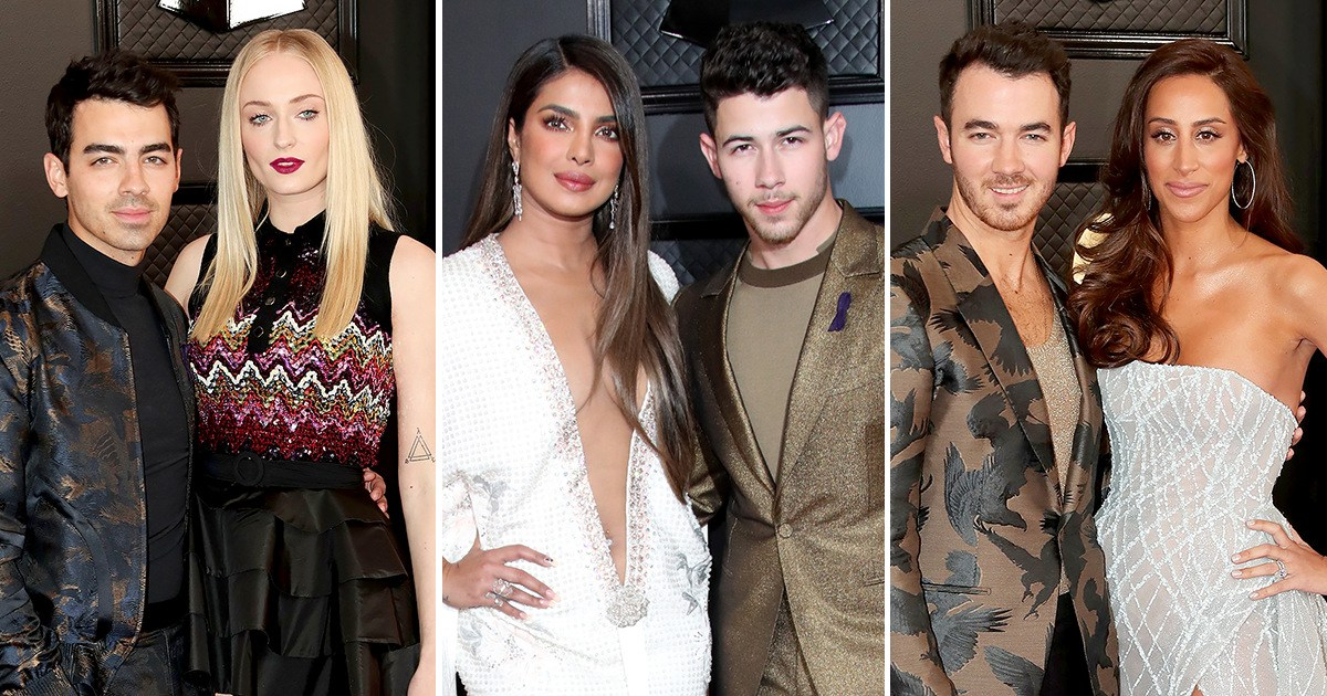 The Jonas Brothers and Their Wives are Burning Up the 2020 Grammy Awards Red Carpet