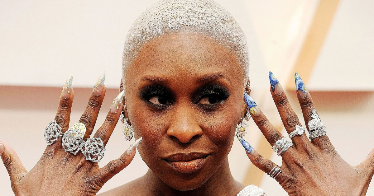 Image result for cynthia erivo manicure oscars