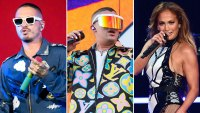 J Balvin and Bad Bunny Performing With J. Lo, Shakira at Super Bowl Halftime Show