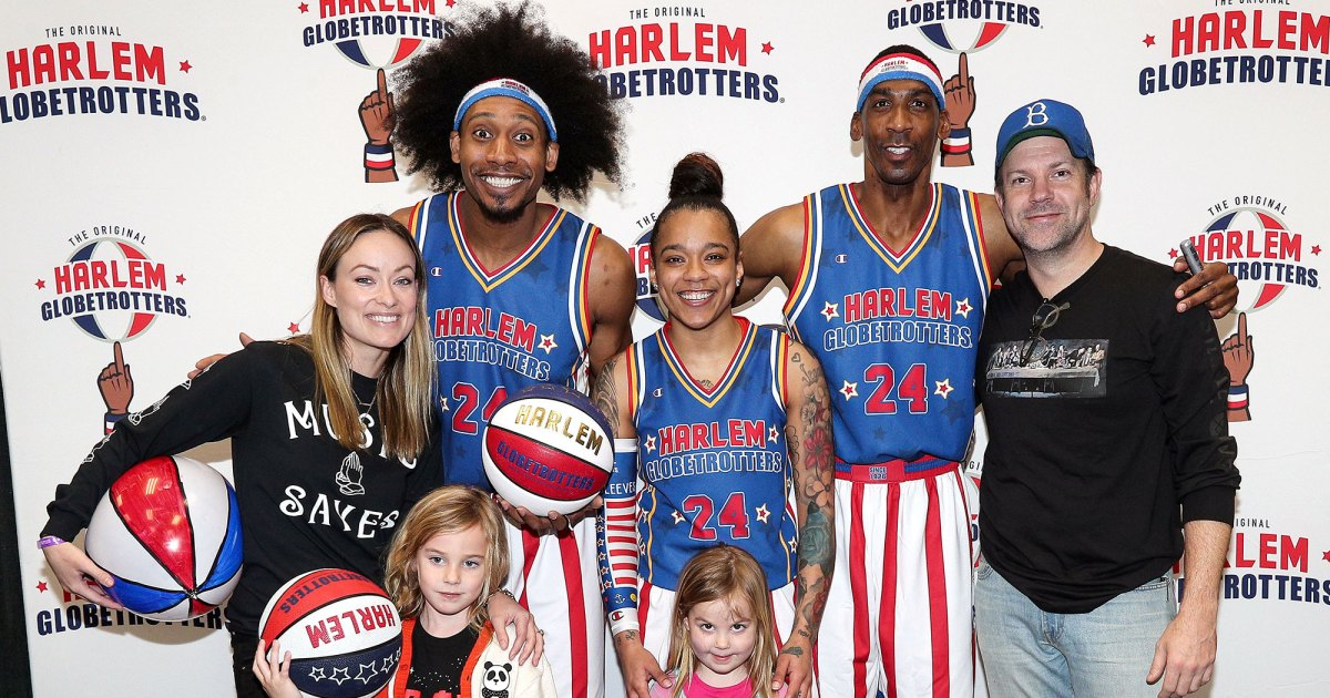 Jason Sudeikis, Olivia Wilde and Their Kids Attend Globetrotters Game