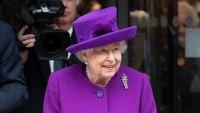 Queen Elizabeth Bright Purple Coat February 19, 2020