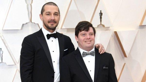 Shia LaBeouf and Zack Gottsagen Red Carpet Oscars 2020