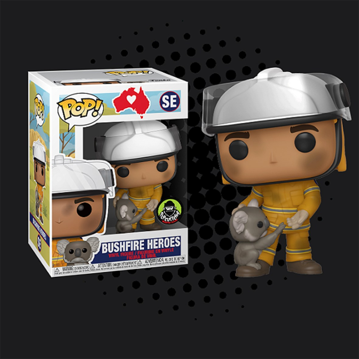 Funko Brushfire Heroes Firefighter with Koala Pop! Vinyl Figure