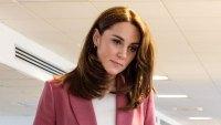 Duchess Kate Middleton Rose Pantsuit March 19, 2020