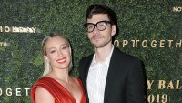 Hilary Duff, Matthew Koma Joke About Looking at Postmates in Bed Baby Ball