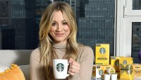Kaley Cuoco Starbucks Blonde Sunrise Blend