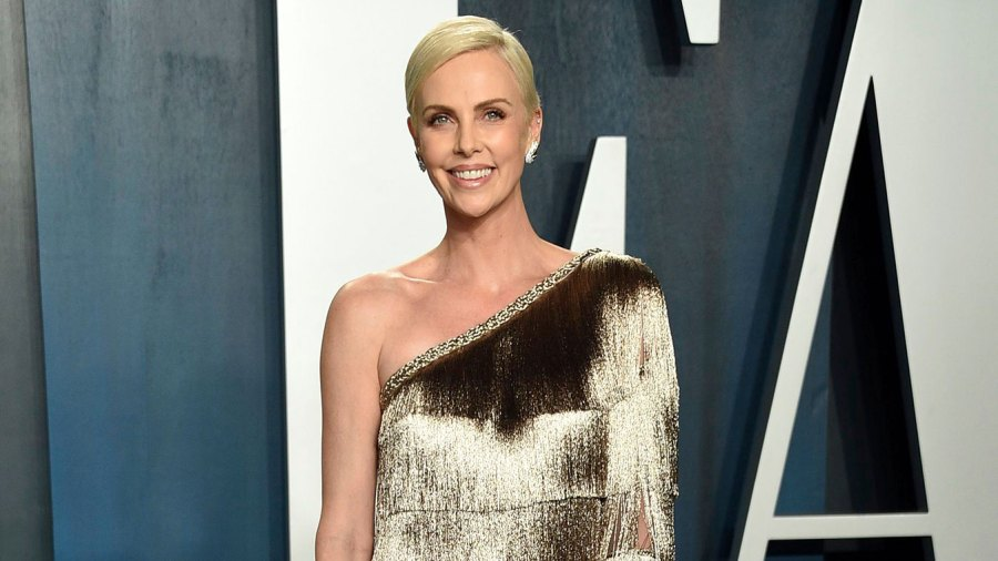Charlize Theron Posts Rare Pic of Daughter Jackson on Mad Max Oscar Gold Dress