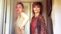 Lisa Rinna and Daughter Delilah Twin in Chic Sheer Dresses