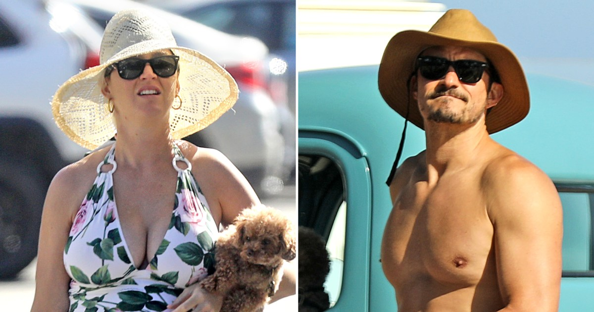 Pregnant Katy Perry Shows Off Baby Bump During Beach Day With Orlando Bloom