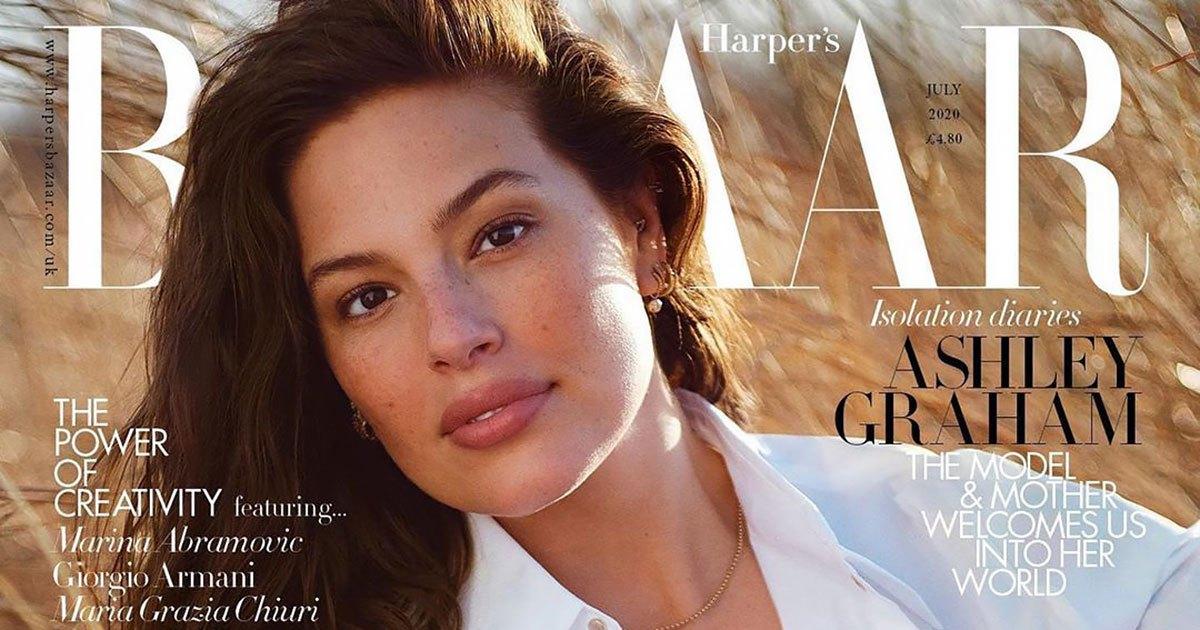 Ashley Graham's Husband Shot Her 'Harper's Bazaar UK' Cover During COVID-19