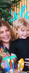 Fergie Brings Son Axl to Protest Supporting Black Lives Matter