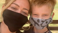 Hilary Duff son face mask