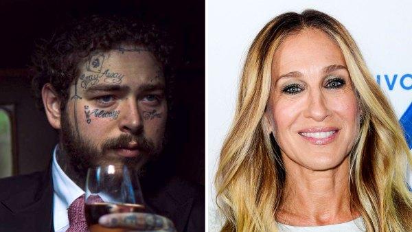 Post Malone Sarah Jessica Parker rose wine