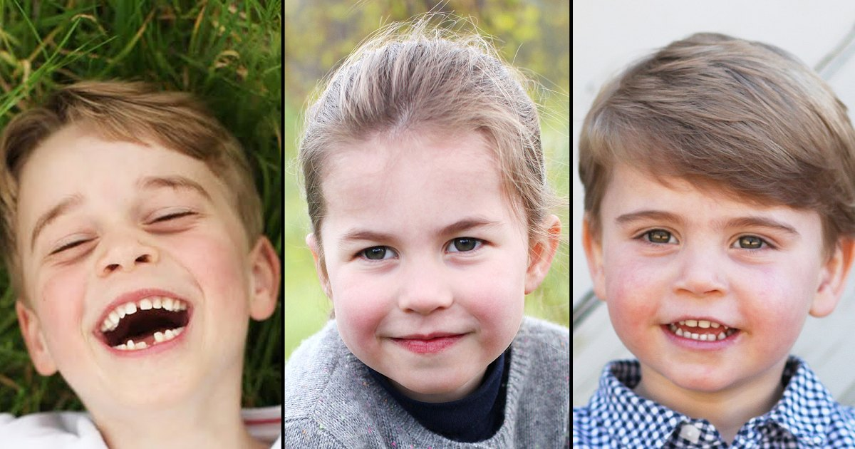 Royally Cute!  Kate and William's Kids' Birthday Portraits Over the Years