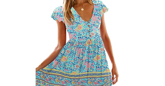 Beyond Comfortable! This Floral Dress Is Made of Soft, Stretchy Jersey.jpg
