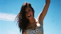 Nina Dobrev Proves That Houndstooth Is a Perfect Bikini Print