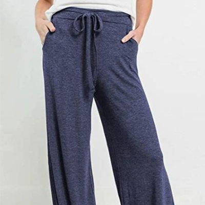PRETTYGARDEN Women's Casual Drawstring Waist Stretchy Loose Lounge Pants