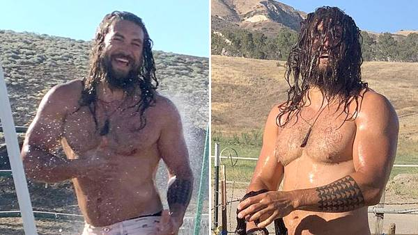 Shirtless Jason Momoa Gets Hosed Down After Muddy Dune Buggy Ride