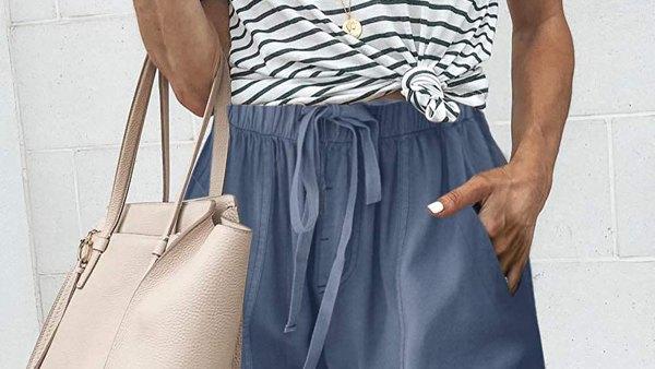 FEKOAFE Comfy Drawstring Casual Elastic Waist Shorts