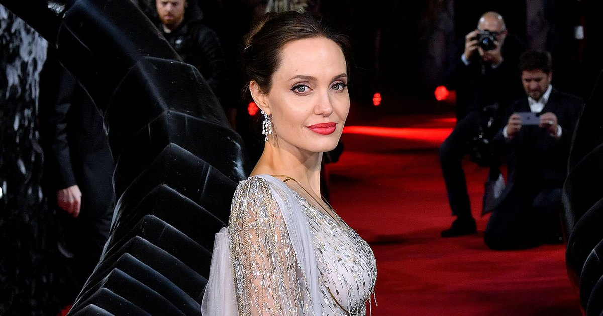 The $5 Cotton Face Masks Angelina Jolie Is Wearing Over and Over Again