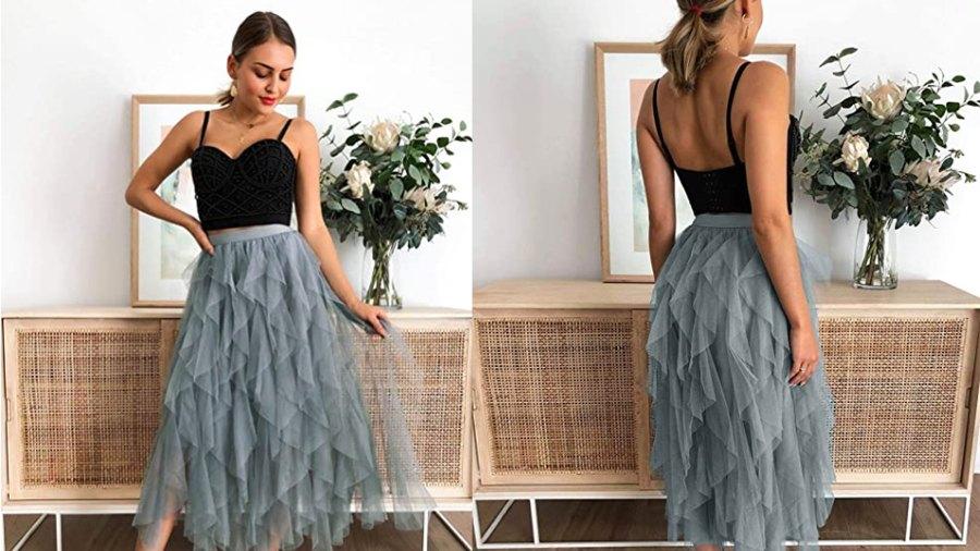 KIRUNDO 2020 Summer Women's Sheer Tutu Skirt