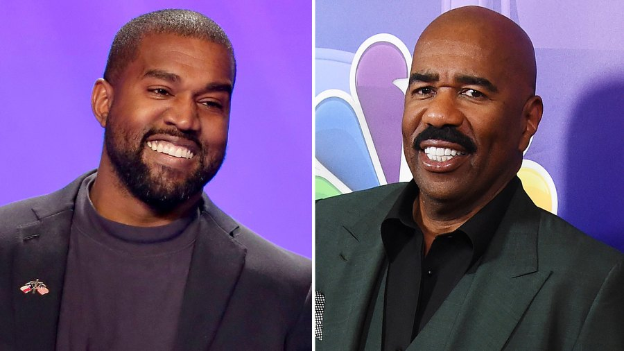 Kanye West Hangs Out With Steve Harvey After Family Drama Public Antics