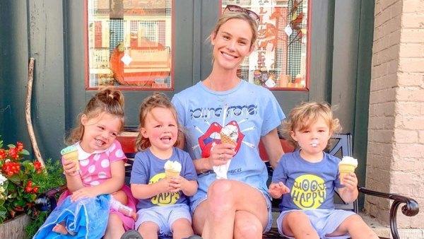 Meghan King ice cream with kids