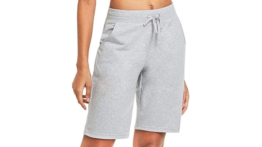 "BALEAF Women's 10"" Long Cotton Lounge Bermuda Jersey Shorts"