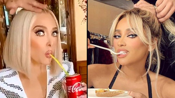 Stars Eating While Getting Ready Erika Jayne Shay Mitchell
