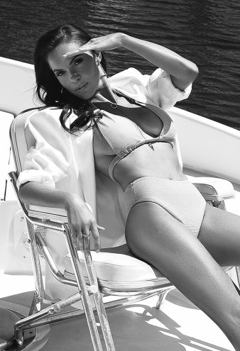 The Pussycat Dolls Carmit Bachar In A Bikini On The Cover of Retreat Magazine
