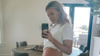 Witney Carson McAllister Baby Bump Selfie