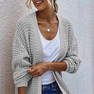 Alelly Women's Open Front Long Sleeve Chunky Sweater