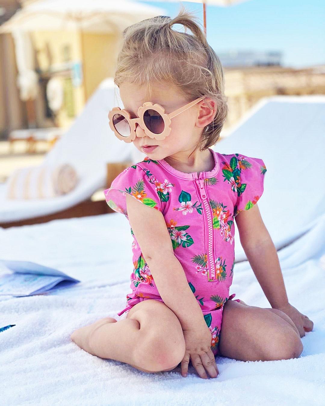Arie Luyendyk Jr., Lauren Burnham's Daughter Is a 'Mood' Playing Poolside