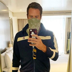 Armie Hammer Wears His Tracksuit for Rebecca Film Promotion